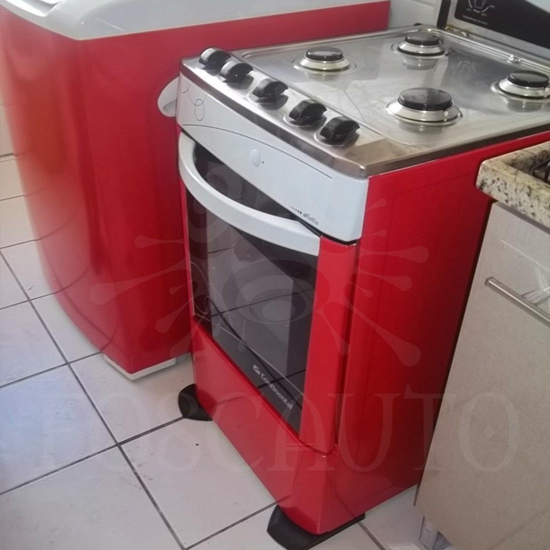 Armario Planejado Cozinha ~ Adesivo Envelopamento Geladeira Fog u00e3o Móveis Porta 6m X 1m R$ 140,00 em Mercado Livre