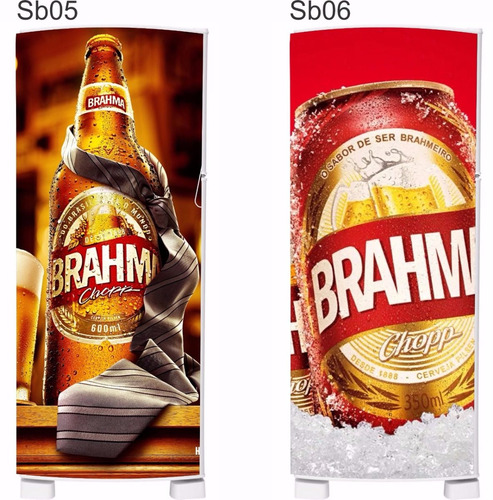 envelopamento total frigobar brahma skol cerveja cervejeiro