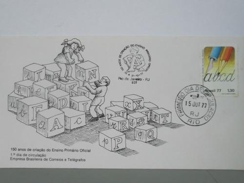 envelope - 150 anos de criação do ensino primário - 1977