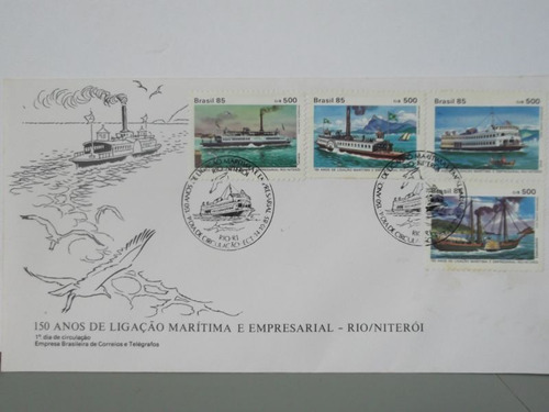 envelope - 150 anos de ligação marítima e empresarial - 1985