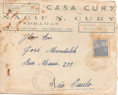 envelope 1943 casa cury andradas mg p\ são paulo
