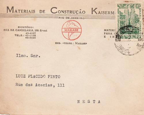 envelope 1959 de rubens kaisermann para luiz plácido pinto