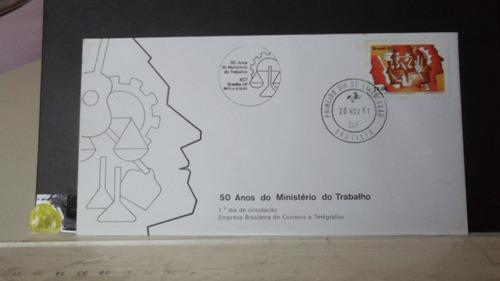 envelope - 50 anos do ministério do trabalho