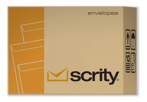 envelope a4 saco kraft pardo 22 x 32 cm scrity 250 unidades