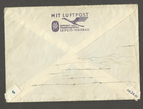 envelope alemanha 3 selos 1956 circulado p/ usa zone c/carta