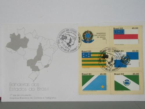 envelope - bandeiras dos estados do brasil - 1983