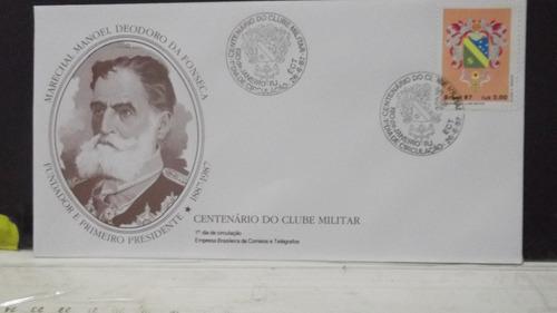 envelope centenário do clube militar  fdc 2 carimbos