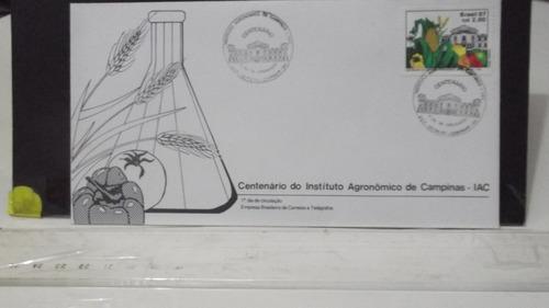 envelope centenário do instituto agronômico de campinas iac