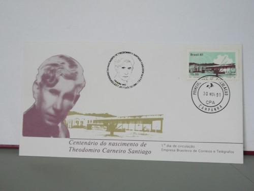 envelope- centenário do nascimento de thodomiro carneiro s.