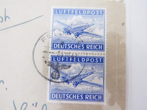envelope circulado alemanha deutsches reich 1943 selo