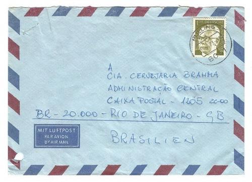 envelope circulado da alemanha para brahma brasil 1973