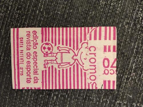 envelope de figurinhas da copa do mundo 1970 álbum tra lá lá