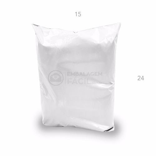 envelope de segurança com lacre - 15 cm x 24 cm - 100 und