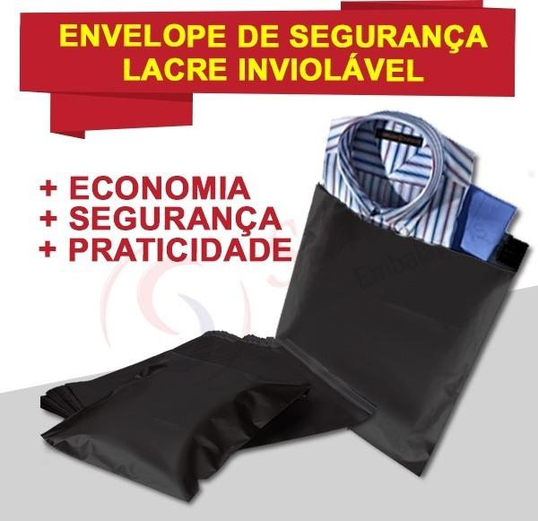 0c5e24348 Envelope De Segurança Inviolável Correio Preto 20x30 C100 - R  57