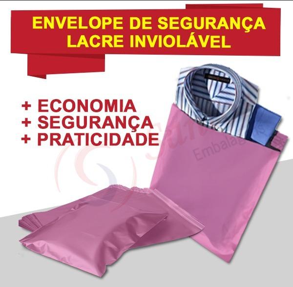 d018f3c43 Envelope De Segurança Inviolável Correio Rosa 20x30 C100 - R  54