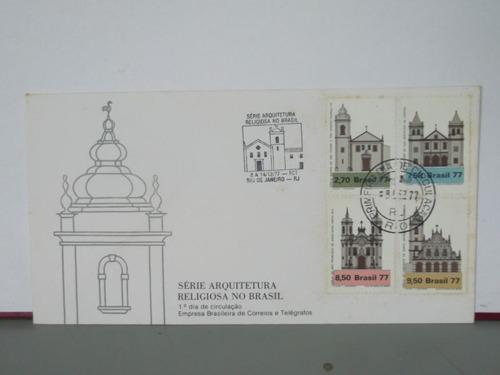 envelope- fdc série arquitetura religiosa no brasil - 1977