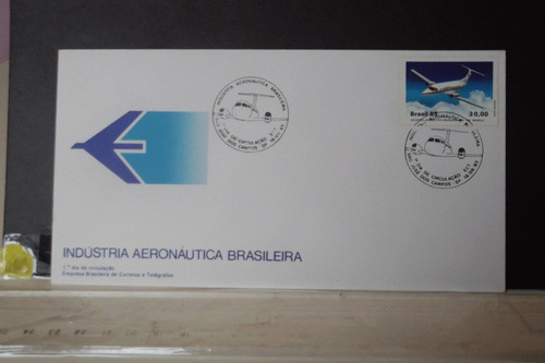 envelope indústria aeronáutica brasileira - 1983