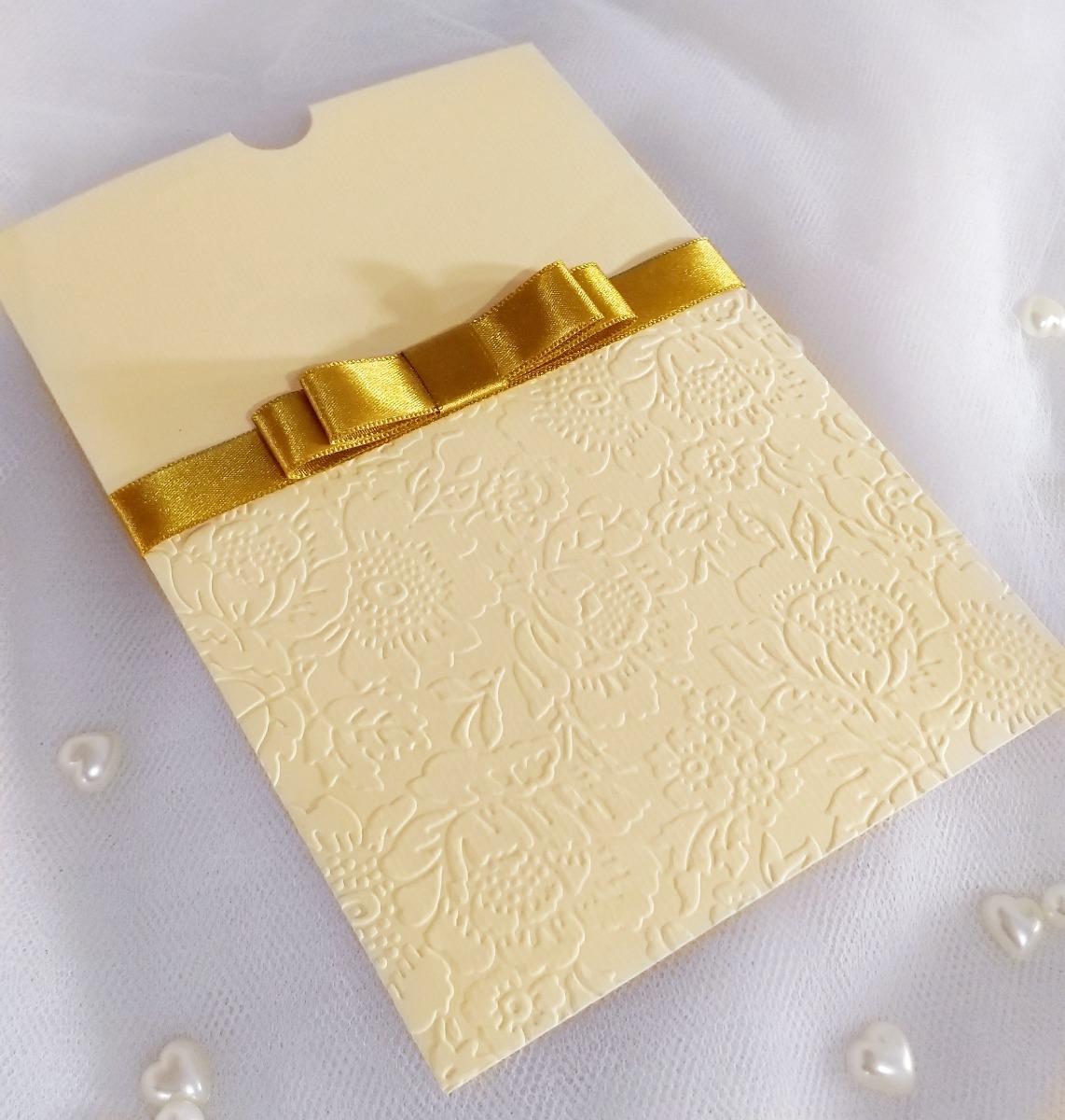 aeb6828edea envelope luva casamento festa relevo seco e laço chanel. Carregando zoom.