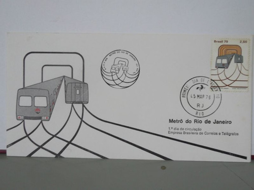 envelope - metrô do rio de janeiro - 1979