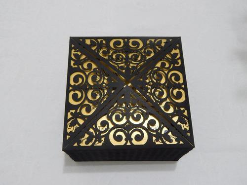 envelope para convite - arabesco 1 corte a laser cores