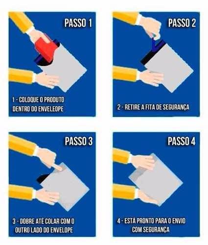 envelope plástico segurança lacre tipo sedex 60 x 50 500pcs