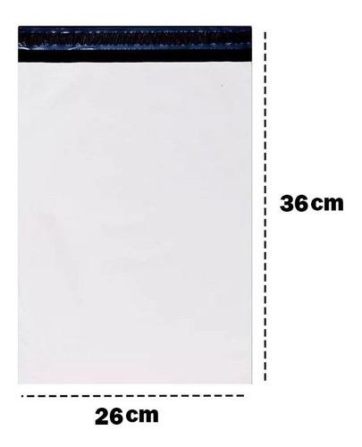 envelope plástico segurança sedex embalagem 26x36 250 un