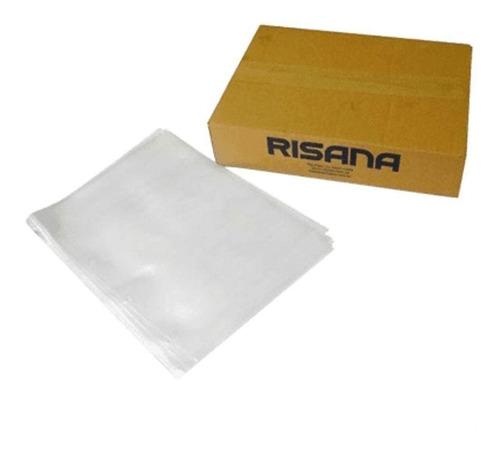 envelope saco plástico a4 2 furos 230x310mm cx 500 un risana