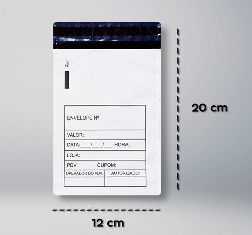 envelope sangria de caixa inviolável 12 cm x 20 cm 1000unds