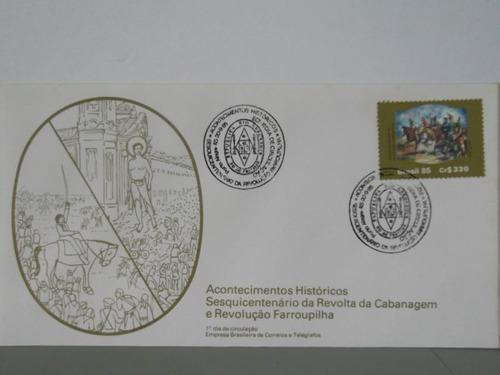 envelope- sesquicentenário da revolta da cabanagem
