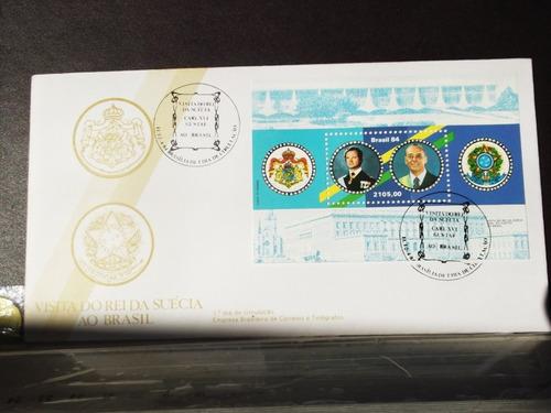 envelope - visita do rei da suécia - 1984