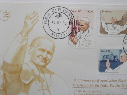 envelope- x congresso eucarístico nacional visita papa