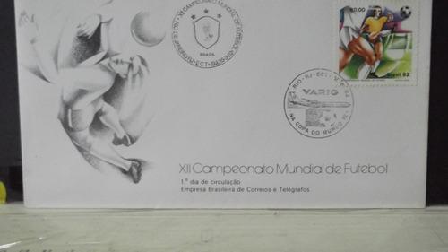 envelope x i i campeonato mundial de futebol  fdc 2 carimbos