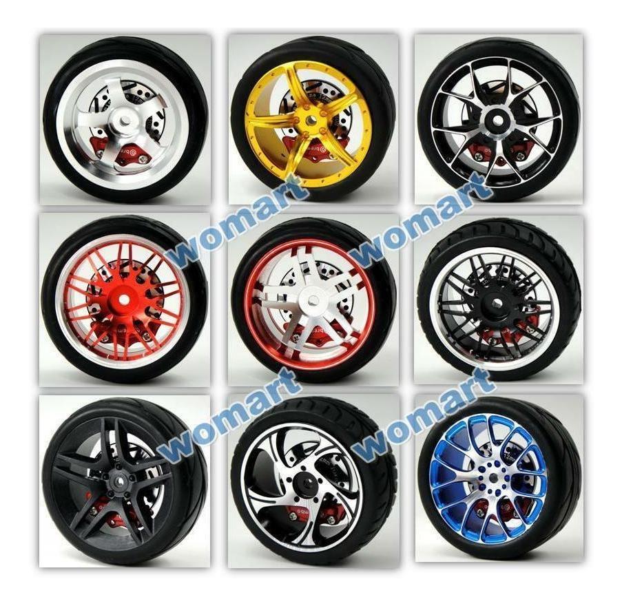 4Pcs RC Car 1//10 Alloy Brake Disc Wheel Rims for Racing Model Car Parts