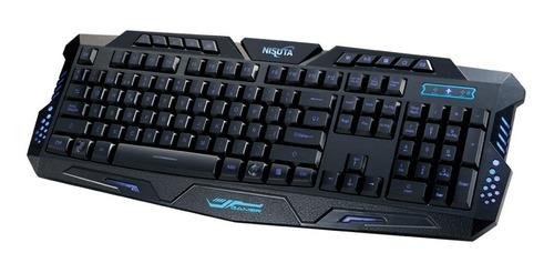 envío con normalidad teclado gamer nisuta ns-kb25l retroilum