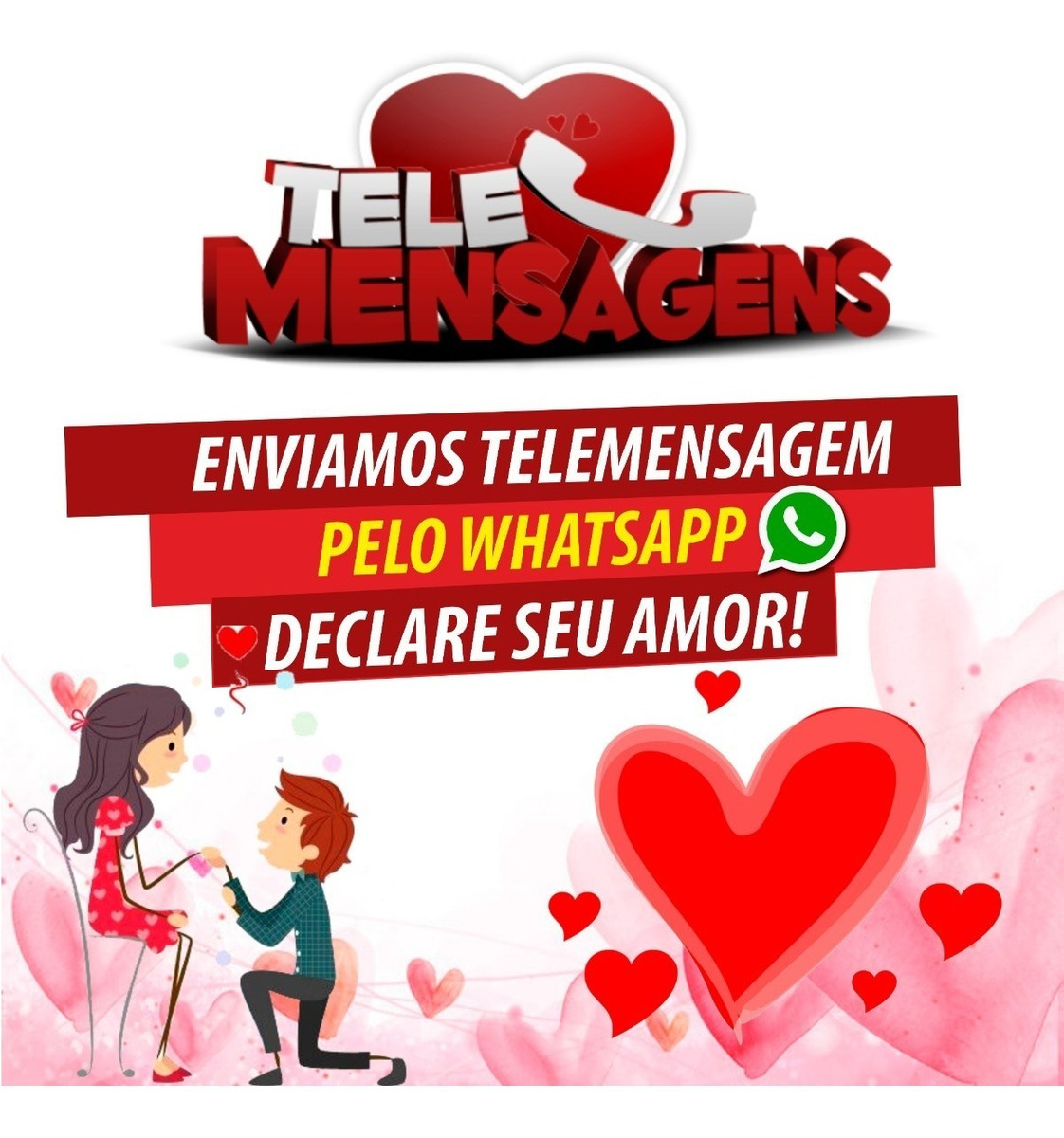 Envio De 1 Telemensagem Whatsapp Amor Namorado Aniversário