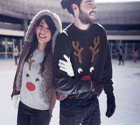 Envio Gratis 2 Sudadera Para Parejas Navidad Familia Novios