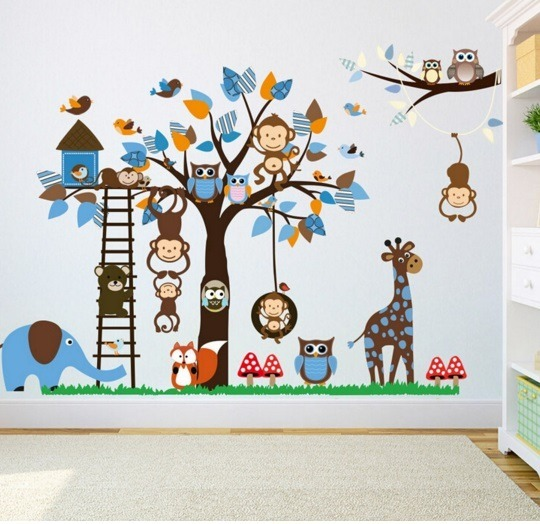 Envio Gratis Adhesivos Vinilos Murales Infantiles Xl 15 000 En