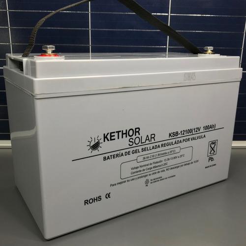 envio gratis baterías kethor ciclo profundo gel12 v 100 ah