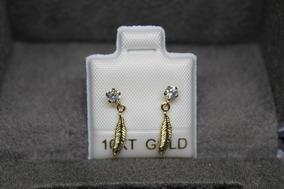 6535a5082377 Plumas Diamantes Grande - Aretes Oro en Mercado Libre México