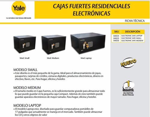 envio gratis caja fuerte acero laptop yale 84834 digital
