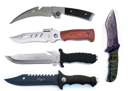envio gratis combo 5 cuchillos acero c funda varios modelos