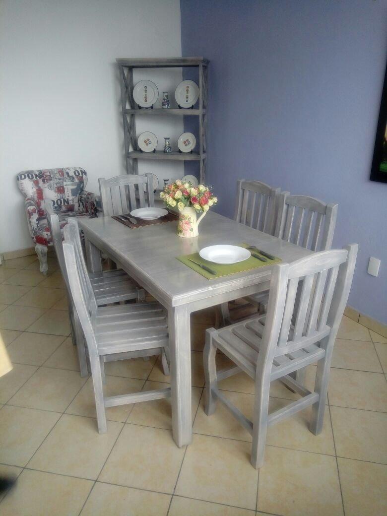 Envio gratis comedor 6 puestos modelo paris 4 450 for Paris muebles comedor