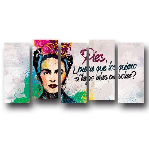 envio gratis cuadro decorativo 150 x 70 cm - 5 secciones-