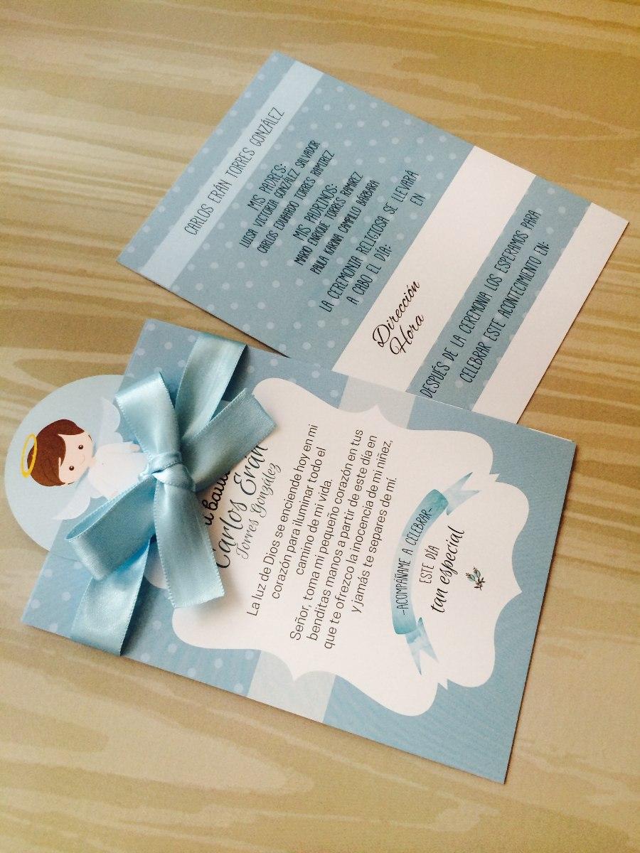 invitaciones para bautizo de nino