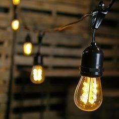 envio gratis luces en serie para exterior estilo vintage