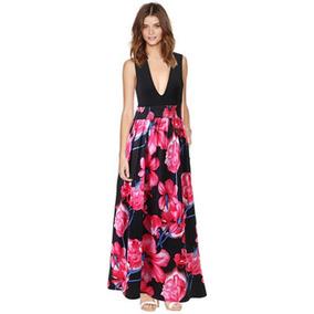 96a70d028bb Vestido Negro Con Flores Rojas - Vestidos de Mujer en Mercado Libre México