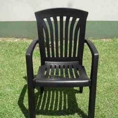 envio gratis mesa rectangular ref.neg+ 6 sillones ref.negros