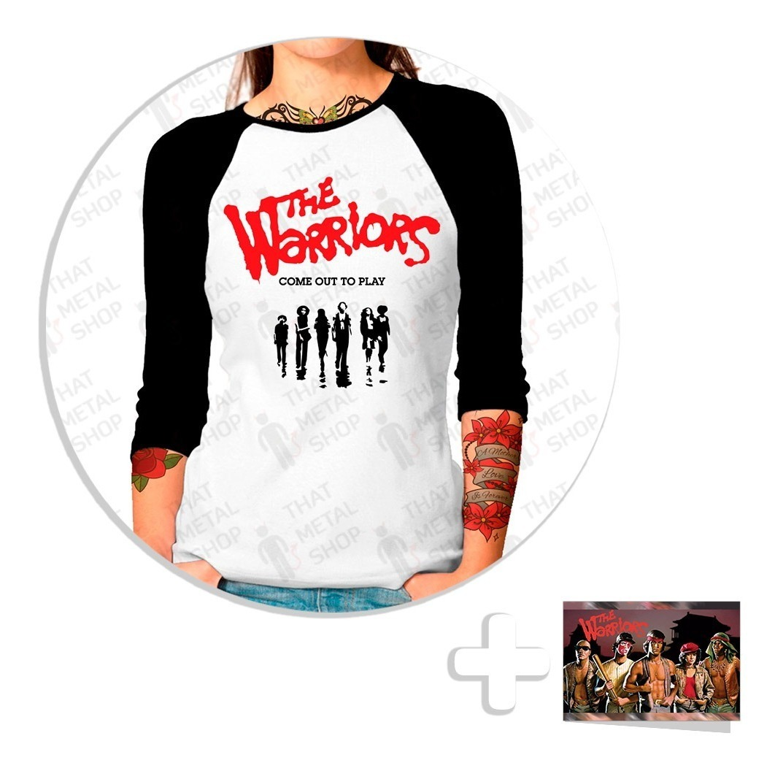 Envío Gratis Jugarera Raglan Dama The Warriors + Sticker