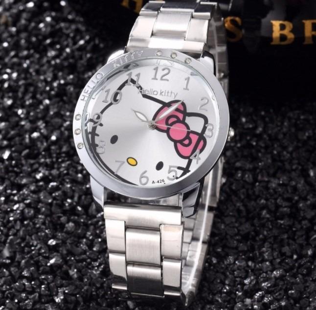 ea37d2522de1 Envio Gratis Reloj Hello Kitty Acero Inoxidable Para Dama -   380.00 ...