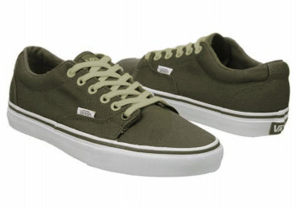 zapatillas vans verdes militar